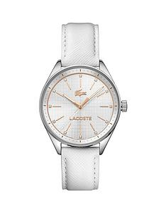 lacoste-white-dial-white-leather-ladies-watch