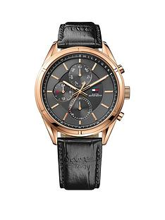 tommy-hilfiger-chronograph-black-dial-rose-gold-case-black-leather-strap-mens-watch