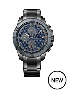 tommy-hilfiger-chronograph-blue-dial-gun-metal-stainless-steel-bracelet-mens-watch