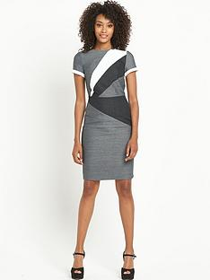 south-mixed-fabric-pencil-dress