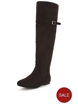shoe-box-sonata-knee-high-imi-suede-flat-boot