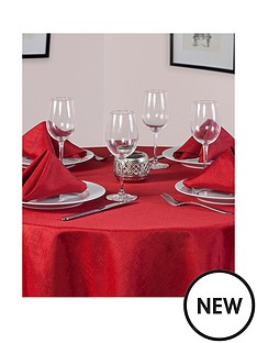 linen-look-round-table-linen-set-4-place-settings