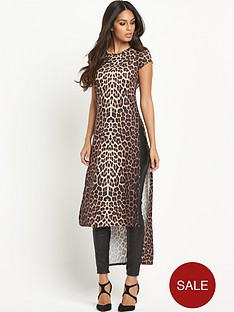 south-south-animal-print-maxi-t-shirt-with-side-split