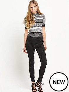 river-island-stripe-high-neck-knitted-top