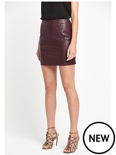 river-island-river-island-oxblood-pu-mini-skirt