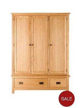 london-3-door-2-drawer-oak-wardrobe