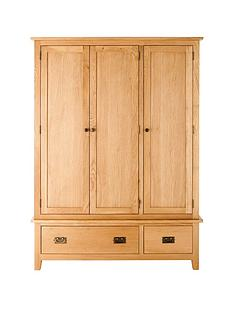 london-ready-assembled-3-door-2-drawer-solid-oak-wardrobe