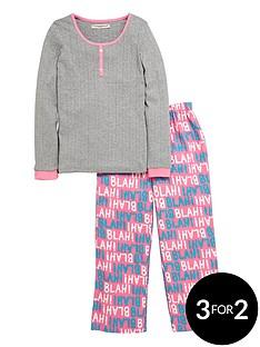 freespirit-girls-blah-blah-pyjamas-set