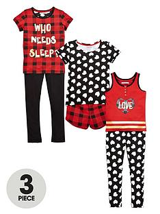 freespirit-girlsnbsptartan-christmas-pj-set-6-piece