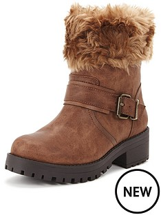 shoe-box-perditanbspfaux-fur-cuff-casual-buckle-boot