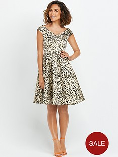 myleene-klass-animal-jacquard-bardot-prom-dress