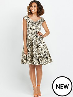 myleene-klass-myleene-animal-jacquard-bardot-prom-dress