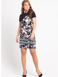 coleen-printed-embellished-high-neck-dress