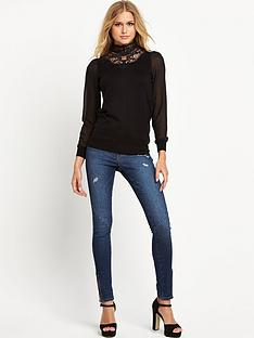 oasis-oasis-victoriana-high-neck-chiffon-sleeve-top