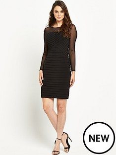 wallis-wallis-mesh-sleeve-shutter-dress