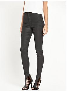miss-selfridge-steffi-coated-super-high-waist-jeans