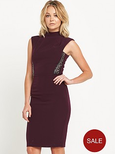 miss-selfridge-high-neck-pencil-dress-with-chain-trim-detailnbsp