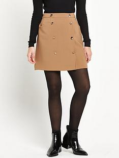 miss-selfridge-a-line-button-skirt