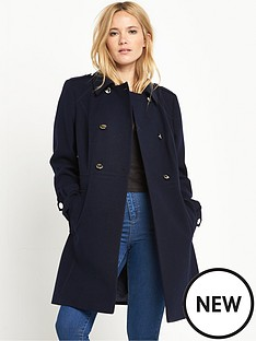miss-selfridge-navy-wool-coat