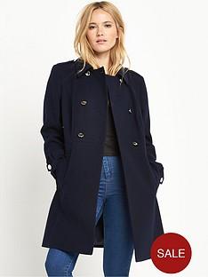 miss-selfridge-navy-wool-coat