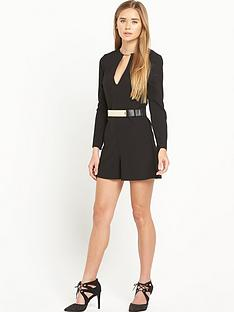 miss-selfridge-playsuit-with-gold-belt