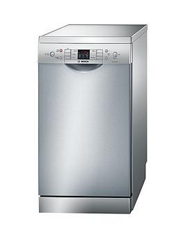 Bosch Sps53M08Gb 9Place Slimline Dishwasher  Silver