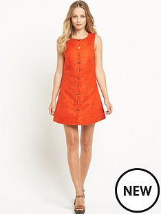 definitions-definitions-suedette-button-up-dress