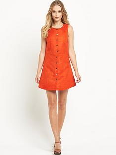 definitions-suedette-button-up-dress