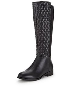 shoe-box-winter-quilt-detail-neoprene-knee-high-flat-boot-standard-fit