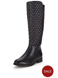 so-fabulous-winter-quilt-detail-neoprene-knee-high-flat-boot-wide-fit