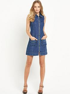 south-south-denim-zip-through-collar-dress