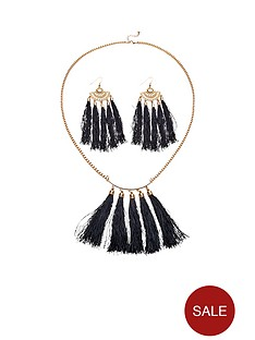 tassel-necklace-and-earring-set