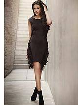 Lipsy Michelle Keegan Fringe Suede Dress