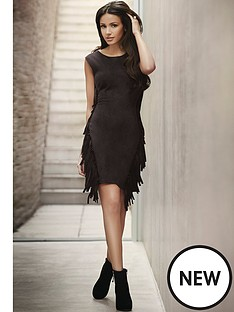 lipsy-michelle-keegan-fringe-faux-suede-dress