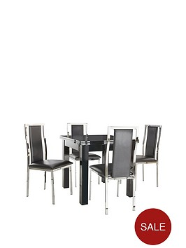 gloss-80-160-cm-square-to-rectangle-table-plus-4-atlantic-chairs