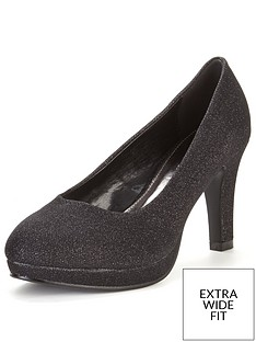 so-fabulous-matilda-extra-wide-fit-platform-court-shoe-black-sparkle