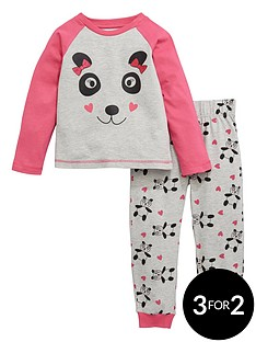 ladybird-girls-panda-print-pyjamas-set-12-months-7-years