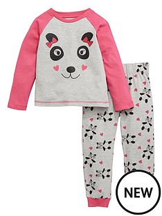 ladybird-toddler-girls-single-panda-print-pyjamas-1-7-years