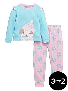 ladybird-toddler-girls-single-pug-print-pyjamas-1-7-years