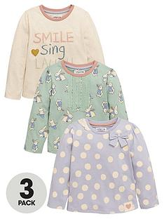 ladybird-girls-smile-bunny-and-spotty-t-shirts-3-pack-12-months-7-years