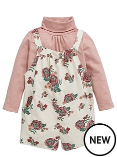 ladybird-toddler-girls-jersey-floral-playsuit-dungaree-amp-roll-neck-1-7-years