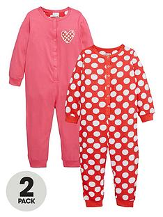ladybird-girls-spotty-and-heart-printnbspsleepsuitsnbsp2-pack-12-months-7-years