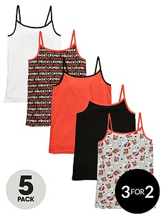 freespirit-girlsnbspchristmas-vests-5-pack