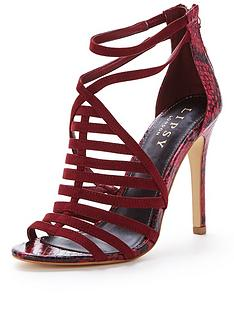 lipsy-esme-caged-snake-tassle-sandal