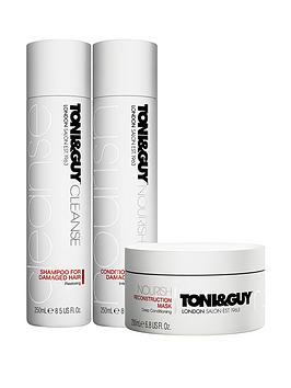 toniguy-cleanse-and-nourish-damaged-trio