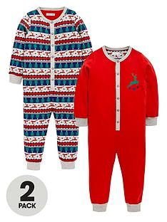ladybird-boys-fairislenbspprint-sleepsuitsnbsp2-pack-12-months-7-years