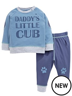 ladybird-baby-boys-039daddy039s-little-cub039-value-set