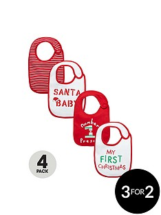 ladybird-baby-unisex-4-pk-novelty-bibs