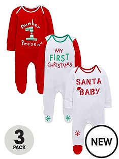 ladybird-unisex-3-pack-novelty-sleepsuits
