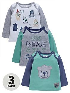 ladybird-baby-boys-bear-long-sleeve-t-shirts-3-pack